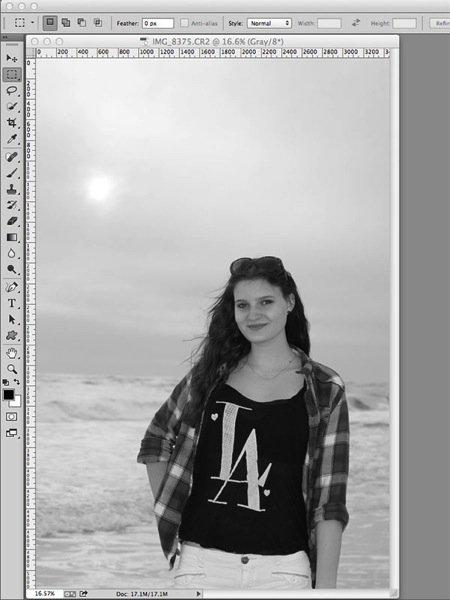 сделать фото черно белое онлайн
